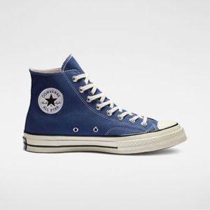 Navy women's converse chuck 70 (high top shoe)